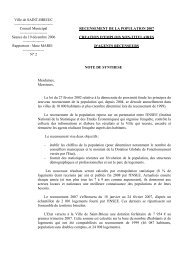 Délibération N° 2 : Recensement de la population ... - Saint-Brieuc