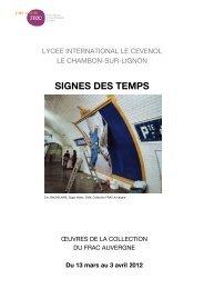Journal Signes des temps- Chambon - FRAC Auvergne