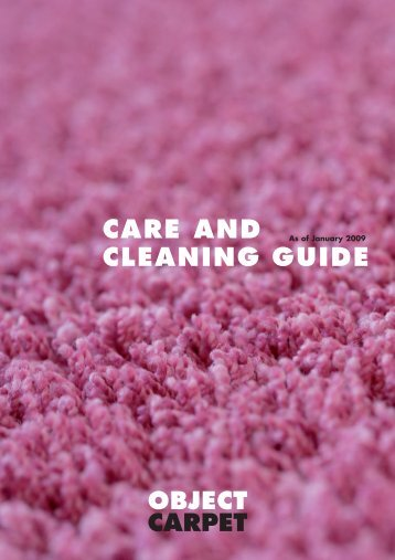 CARE AND CLEANING GUIDE - Object Carpet