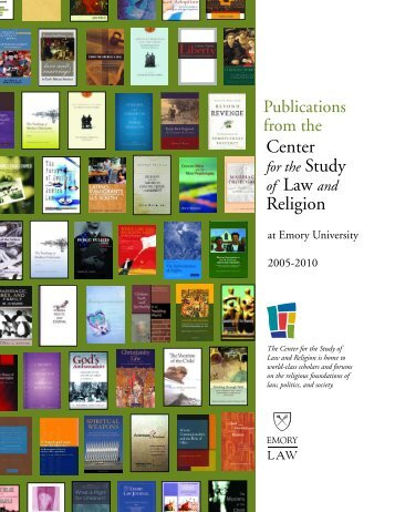 Download the catalog. - Center for the Study of Law and Religion