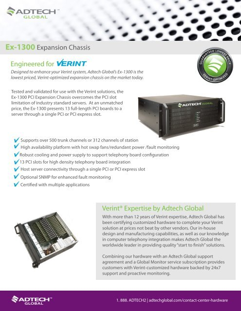 Ex-1300 Expansion Chassis - Adtech Global