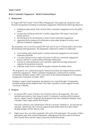 Better Community Engagement - Initial Evaluation Report 2008