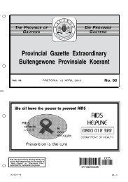 No. 95 - Gauteng Provincial Treasury