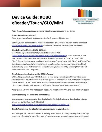 Device Guide for Kobo Touch, Glo, Mini, Aura HD (PDF)