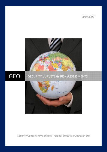 GEO SECURITY SURVEYS &RISK ASSESSMENTS - GEO-OPS