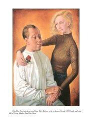 Otto Dix, Portrait du peintre Hans Théo Richter et de sa femme ...
