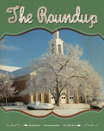 The Roundup November/December 2010 newsletter - Cal Farley's