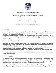 AGA Section Technique 2007 - La Zone ASB