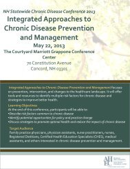 NH Statewide Chronic Disease Conference 2013 Integrated ...