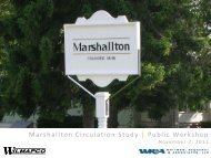 Marshallton Circulation Study | Public Workshop ... - Wilmapco