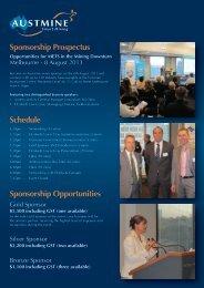 View the Sponsorship Prospectus Now - Austmine
