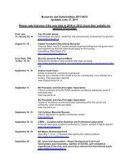 Bursaries and Scholarships 2011-2012 Updated June 17, 2011 ...