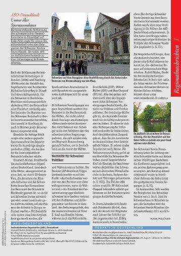 Regionalnachrichten I - Schweizer Revue