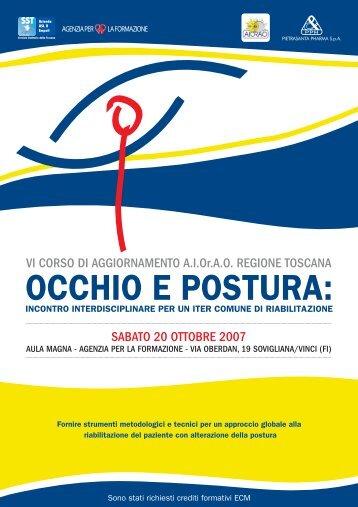 OCCHIO E POSTURA: - AIOrAO