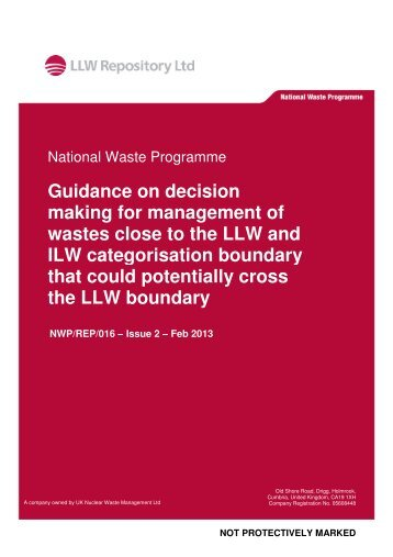 Cross Boundary Waste Decision Making Guidance - Low Level ...