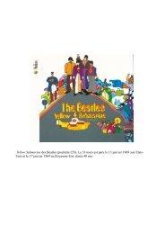 Yellow Submarine des Beatles (pochette CD). Le 33 tours est paru ...