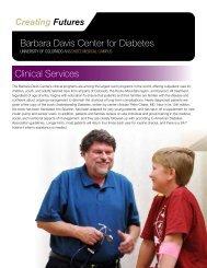 Barbara Davis Center for Diabetes Clinical Services - University of ...