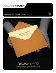 Invitation to Give - University of Colorado Foundation