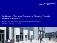 Positioning of Exchange Operators in Changing Financial Market ...