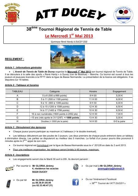 Tennis Basse Rã¨glement Ligue De Tournoi pdf Normandie Att rWdoCxeB