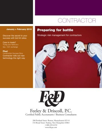 Construction Accounting Newsletter February 2010 - Feeley ...