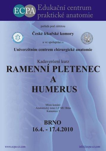 RAMENNÍ PLETENEC A HUMERUS - ECPA-CZ o.p.s.