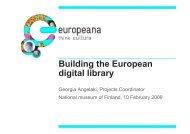Building the European digital library