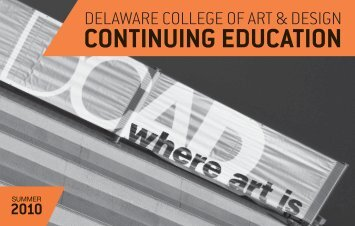 CONTINUING EDUCATION - Delaware College of Art and Design