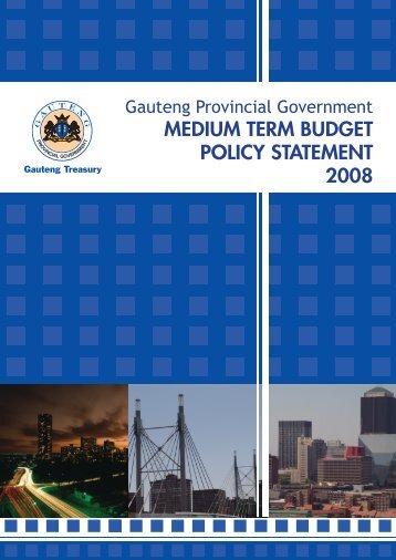 gpg mtbps 2008 - Gauteng Provincial Treasury
