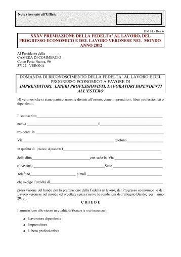 Domanda estero - Consolato generale d'Italia a Caracas