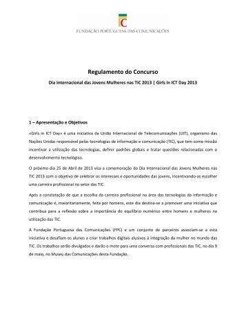 Saber mais - Fundação Portuguesa das Comunicações