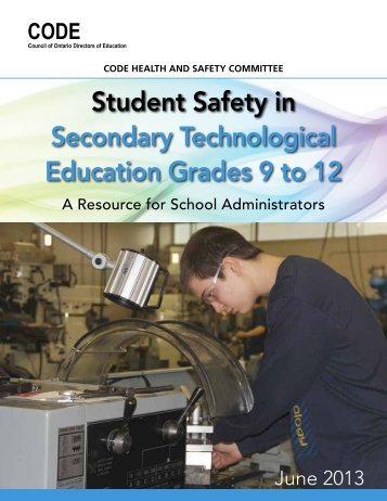 Student Safety in Secondary Technological Education ... - CODE
