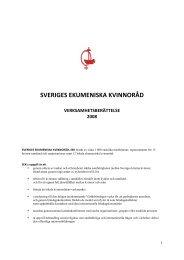 sveriges ekumeniska kvinnoråd verksamhetsberättelse 2008