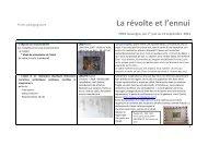 Programme de sixième - FRAC Auvergne