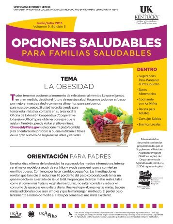 la obesidad - Boone County Cooperative Extension - University of ...