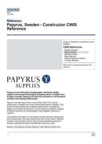 Papyrus, Sweden - Kasten