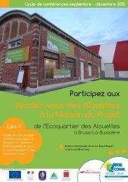 Rendez-vous des Alouettes à la Maison du Projet - Artois Comm.
