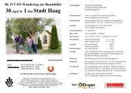48. IVV-Fit Wandertag zur Baumblüte - Union Haag