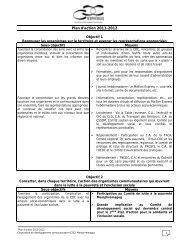 Plan d'action 2011-2012 - CDC Memphrémagog