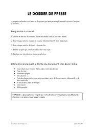 le dossier de presse - Documentation dans l'académie de Versailles