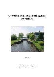 Overzicht schutsluizen,bruggen en veerponten ... - watererfgoed.nl
