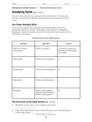 Studying Earth (pp. 13–19) - Toll Middle School