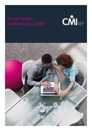 Social media – positives and pitfalls - Chartered Management Institute