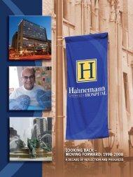 looking back - moving forward - Hahnemann University Hospital