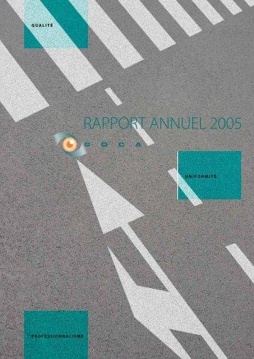 RAPPORT ANNUEL 2005 - Goca