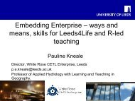 Embedding Enterprise – ways and means, skills for Leeds4Life and ...