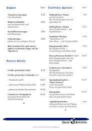 Speisekarte (pdf) - Haus Schwan