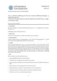 HI2137 Idrottens ställning och roll i den svenska ...