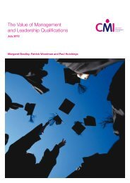 The Value of Management and Leadership Qualifications