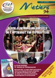 Le Bulletin Officiel d'avril 2010 - Chambre de Métiers et de l'Artisanat ...